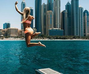 bikini, Dubai, and fashion image