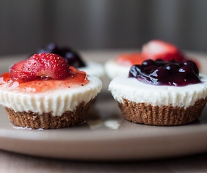 food, delicious, and cupcake image