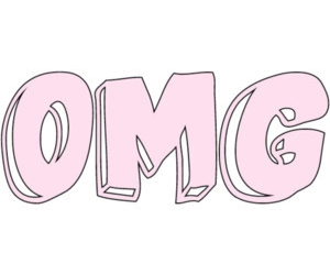 OMG, pink, and overlay image