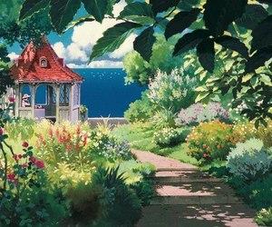 anime, ghibli, and sea image