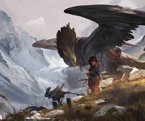 art, fantasy, and Flying image