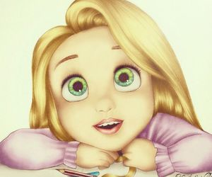 drawing, rapunzel, and disney image
