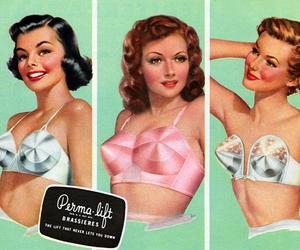 girl, vintage, and bra image