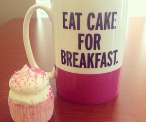breakfast, cake, and pink image