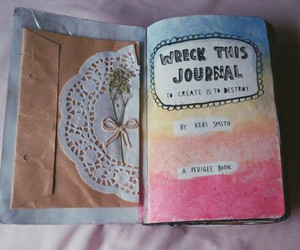 wreckthisjournal, journal, and kerismith image