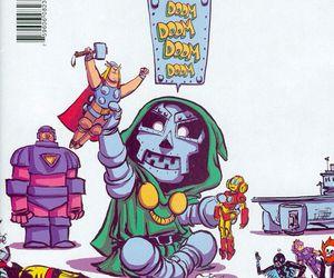 Marvel, skottie young, and doctor doom image