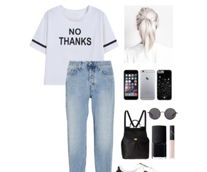 black, jeans, and Polyvore image