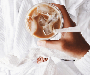coffee, white, and drink image