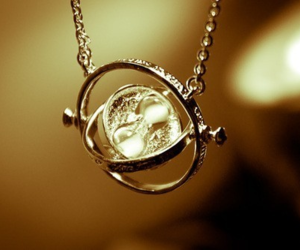 harry potter, necklace, and time turner image