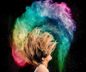 colors, rainbow, and love image