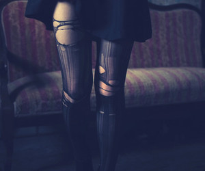 black, legs, and stockings image