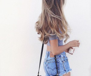 hair, outfit, and summer image