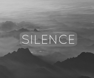 black and white, silence, and tumblr image