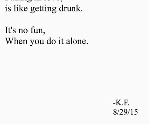 drunk, falling, and quote image