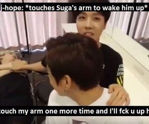 bts, j-hope, and suga image