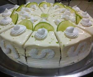 lemon mousse cake image