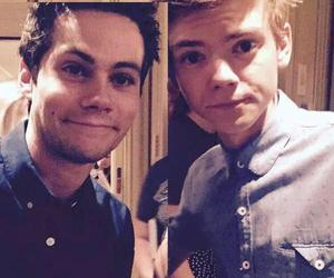 dylan o'brien, newt, and thomas image