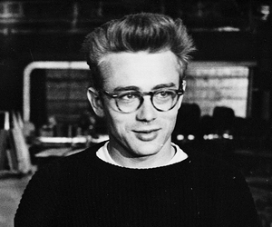 black and white and james dean image