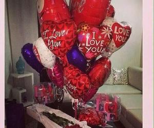 balloons, globos, and Valentine's Day image