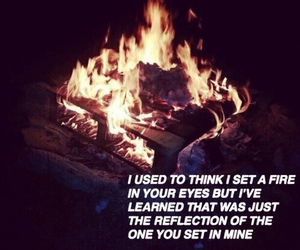 fire, quotes, and love image