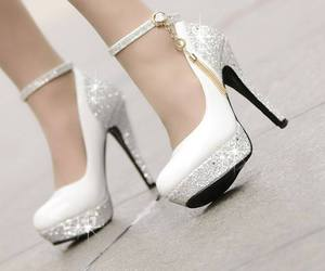 heels, shoes, and white image