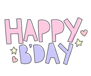 bday, happy, and overlay image