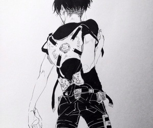levi, snk, and anime image