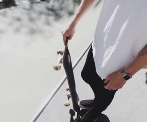 black, boy, and skate image