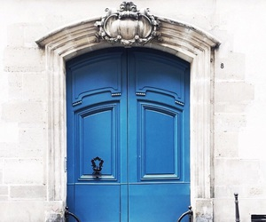 blue and door image