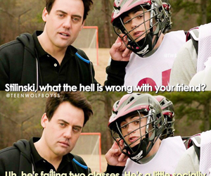 teen wolf, coach, and lacrosse image
