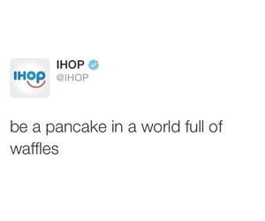 pancakes, quote, and waffles image