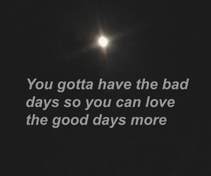 sad and good days image
