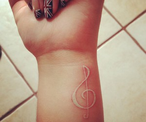 tattoo, music, and nails image