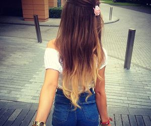back, girl, and ombre hair image