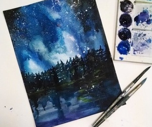 painting, art, and night image