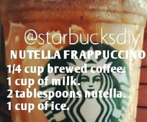 nutella, diy, and coffee image