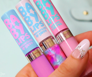 makeup, baby lips, and cosmetics image