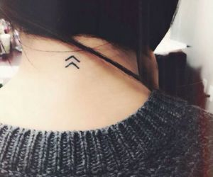 tattoo, arrow, and small image