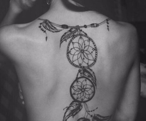 back, beauty, and dream catcher image