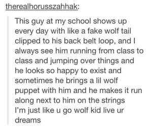 funny, high school, and wolf image