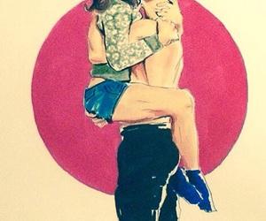 beautiful, drawing, and kiss image