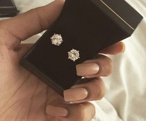 diamond, luxury, and earrings image