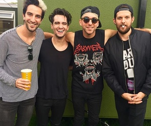 alex gaskarth, all time low, and brendon urie image