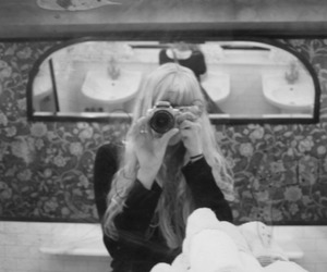 black and white, blond, and mirror image