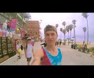skateboarding, Venice beach, and selfie image