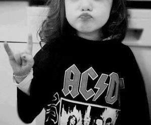 rock, ACDC, and baby image