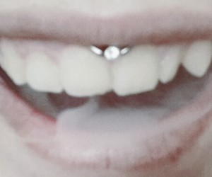 beautifull, mouth, and piercing image