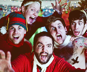 a day to remember, adtr, and christmas image