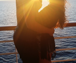 cruise, sunset, and relationship goals image