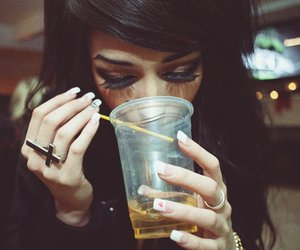 girl, drink, and ring image
